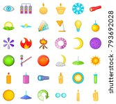 moon icons set. cartoon style... | Shutterstock .eps vector #793692028