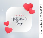 awesome love hearts frame... | Shutterstock .eps vector #793692115