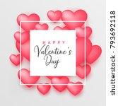 3d pink hearts beautiful... | Shutterstock .eps vector #793692118