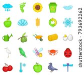ecological diversity icons set. ... | Shutterstock .eps vector #793692262