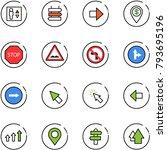 line vector icon set   elevator ... | Shutterstock .eps vector #793695196