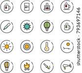 line vector icon set   tea... | Shutterstock .eps vector #793697146