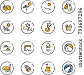 line vector icon set   coconut... | Shutterstock .eps vector #793697296