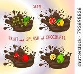 vector icon logo for fruit...   Shutterstock .eps vector #793698826