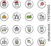 line vector icon set   santa... | Shutterstock .eps vector #793700602