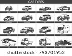 car type and model objects... | Shutterstock .eps vector #793701952