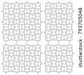 a lot of piece flat puzzle... | Shutterstock .eps vector #793705048