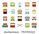 street market icon set. flat... | Shutterstock .eps vector #793705222