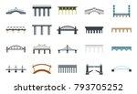 bridge icon set. flat set of... | Shutterstock .eps vector #793705252