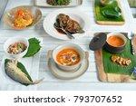 thai food set on white table.   Shutterstock . vector #793707652