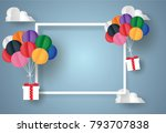 happy birthday concept.balloon... | Shutterstock .eps vector #793707838