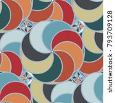 abstract color seamless pattern ... | Shutterstock . vector #793709128