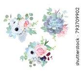 delicate wedding seasonal... | Shutterstock .eps vector #793709902