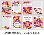 abstract vector layout... | Shutterstock .eps vector #793711516