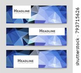 abstract vector layout... | Shutterstock .eps vector #793715626