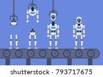 robot android production... | Shutterstock .eps vector #793717675