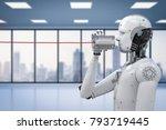 communication technology... | Shutterstock . vector #793719445