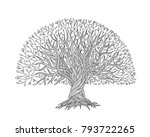 big tree with roots for your...   Shutterstock .eps vector #793722265