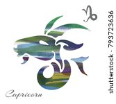 zodiac sign capricorn. vector... | Shutterstock .eps vector #793723636