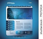 website design template | Shutterstock .eps vector #79372414