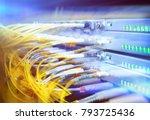 rack mounted servers in a... | Shutterstock . vector #793725436