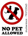 no pet allowed sign | Shutterstock .eps vector #793725565