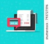 online payment on computer... | Shutterstock .eps vector #793727596