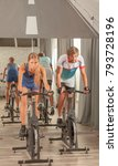 young active people gym cycling | Shutterstock . vector #793728196