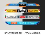 live scoreboard digital screen... | Shutterstock .eps vector #793728586