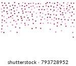 valentines day vector confetti... | Shutterstock .eps vector #793728952