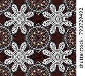 dark element on brown colors.... | Shutterstock .eps vector #793729492