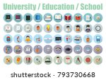 set vector icons in flat design ...   Shutterstock .eps vector #793730668