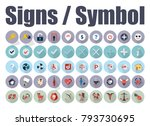vector signs and symbols | Shutterstock .eps vector #793730695