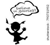 doodle kids with speech bubble... | Shutterstock .eps vector #793731952