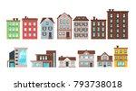 vector  cartoon style set of... | Shutterstock .eps vector #793738018