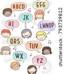 illustration of stickman kids... | Shutterstock .eps vector #793739812