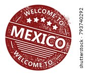 welcome to mexico stamp | Shutterstock .eps vector #793740292
