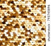 seamless golden texture of... | Shutterstock .eps vector #793745896