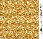 Seamless Sequined Golden...