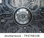 bitcoin cryptocurrency security ... | Shutterstock . vector #793748158