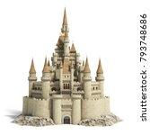 old fairytale castle on the... | Shutterstock . vector #793748686