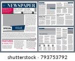 vector design template of... | Shutterstock .eps vector #793753792