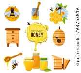 colorful pictures of honey... | Shutterstock .eps vector #793753816