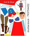 cut and paste worksheet  prince   Shutterstock .eps vector #793754452