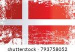 flag of denmark  kingdom of... | Shutterstock . vector #793758052