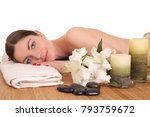 young healthy woman relax in spa | Shutterstock . vector #793759672