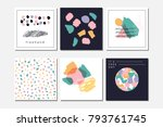 vector abstract covers... | Shutterstock .eps vector #793761745