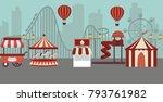 amusement park landscape...   Shutterstock .eps vector #793761982