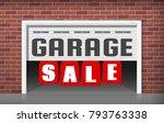 garage sale concept illustration | Shutterstock .eps vector #793763338