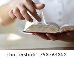 women  reading  bible.   Shutterstock . vector #793764352
